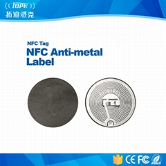 Ntag203 PVC ISO14443A NFC Hf13.56MHz Anti-Metal Label