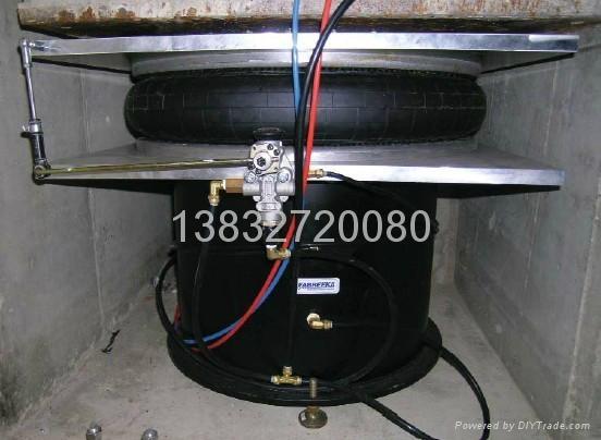 發動機鐵底板採用德國Bilz(比爾茲)空氣彈簧 1