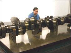 機務段檢修裝備機車凸輪軸檢測平台