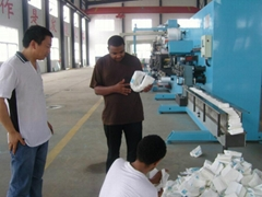 Production line for baby diaper or baby