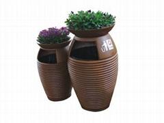 玻璃鋼帶花盆垃圾桶