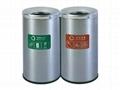 不鏽鋼分類垃圾桶