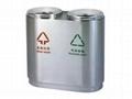 不鏽鋼室內分類垃圾桶