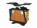 鋼木分類環保垃圾桶