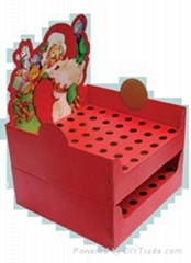 Santa Claus stationery display cases