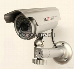Indoor and Outdoor CCTV Dummy Camera (with LED light, Solar Powered)