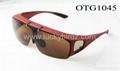 flip up polarized sunglasses over the