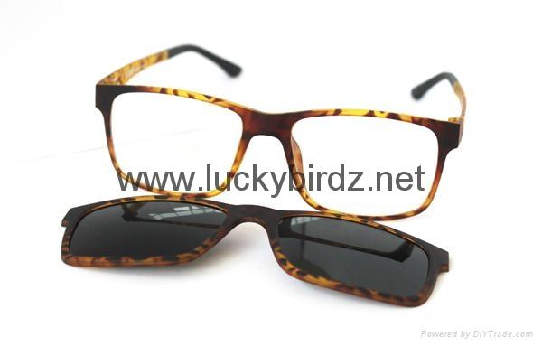Magnetic Polarized sunglasses prescription optical frames 3