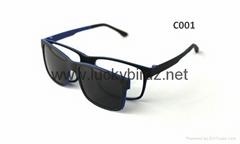Magnetic Polarized sunglasses prescription optical frames