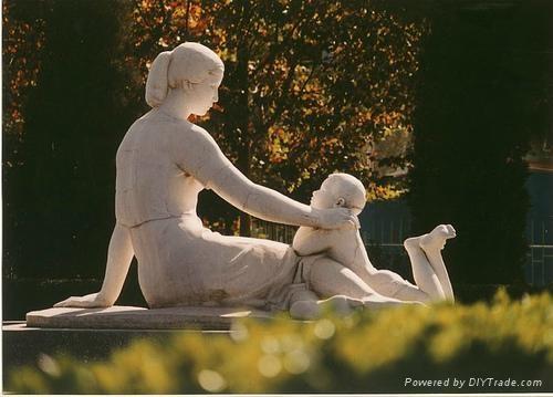 石雕孝老愛親雕塑 2