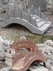 石雕桥景观桥旗台