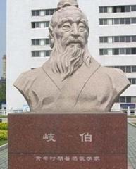 石雕岐伯名醫雕像