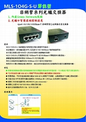 Ethernet Un-Manager Fiber Switch  4port