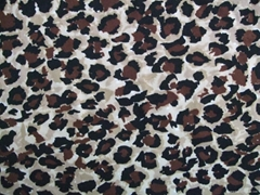 Mesh of Leopard printing fabric