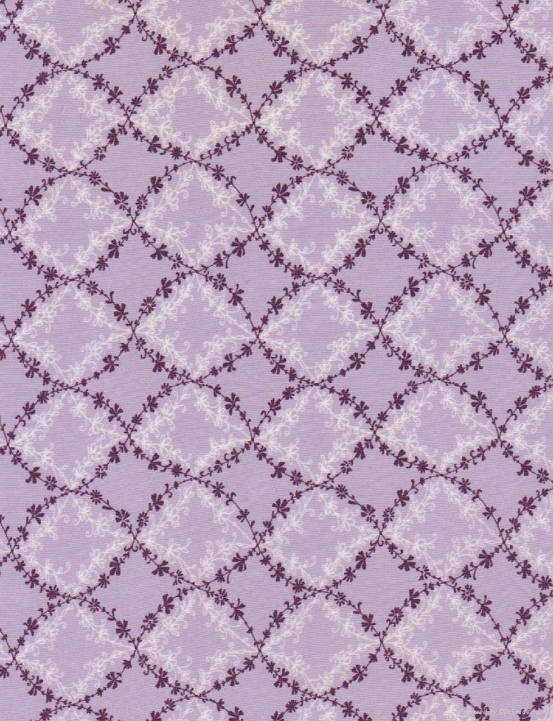 滌綸超細針織平紋拉架染色印花面料 1