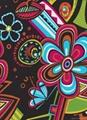 錦綸啞光針織平紋彈力燙金印花針織布面料 3