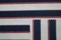 Yarn-dyed lurex stripe knitted elastic