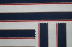 Yarn-dyed lurex stripe knitted elastic fabric