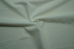 Polyester recycle yarn lycra knitted drawn needle rib fabric