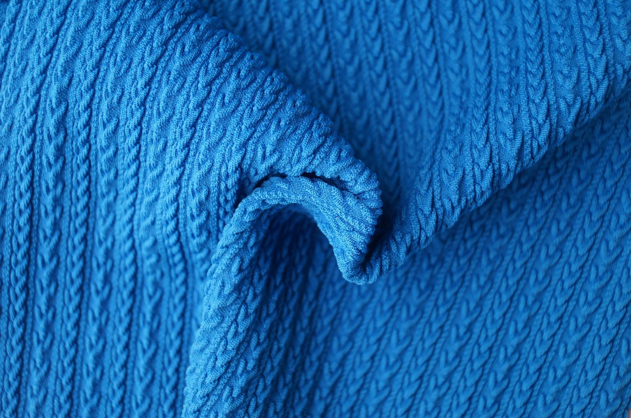 滌綸提花針織拉架色織布面料 1