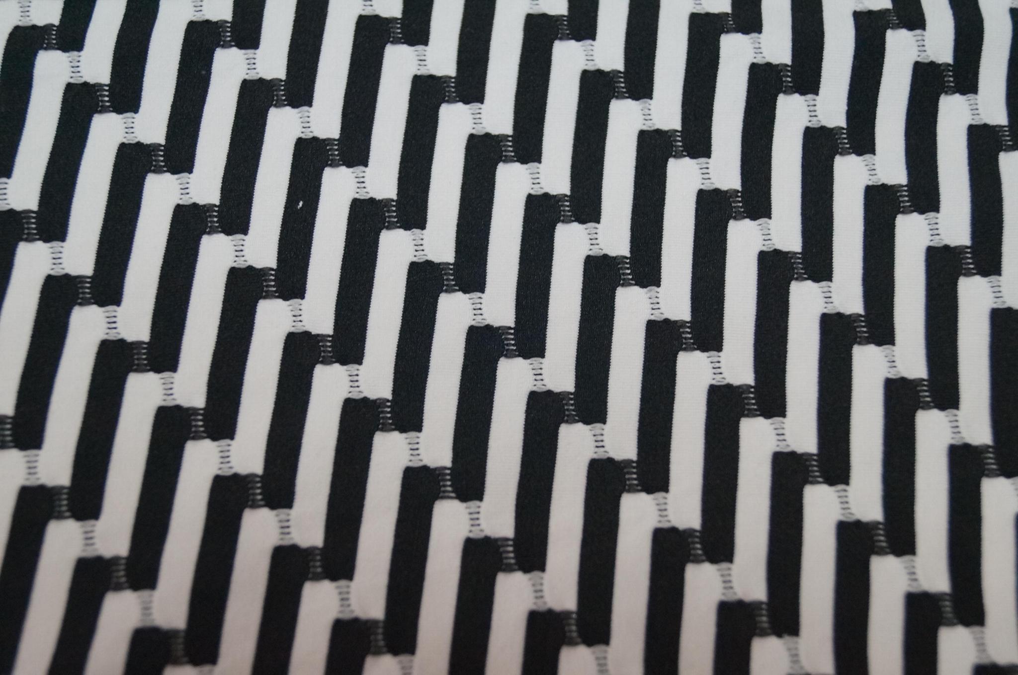滌綸提花針織拉架色織布面料 4
