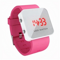LED Watch with Mirror interface