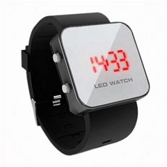 LED Watch with Mirror interface black