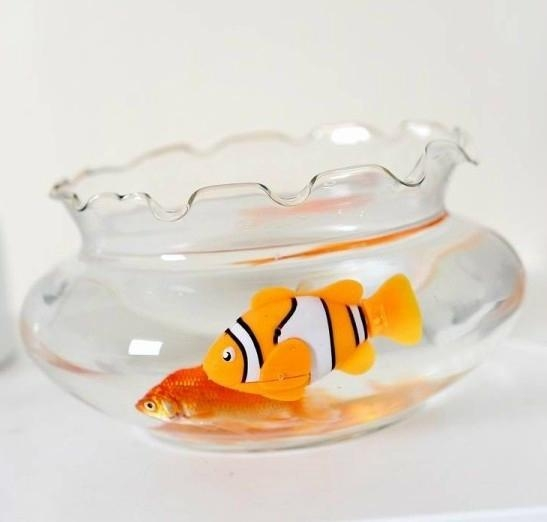 Clown Robot Fish Plastic Happy Fish Electronic Toys For