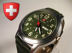 Swiss design army watch glow watch with calendar quartz watch