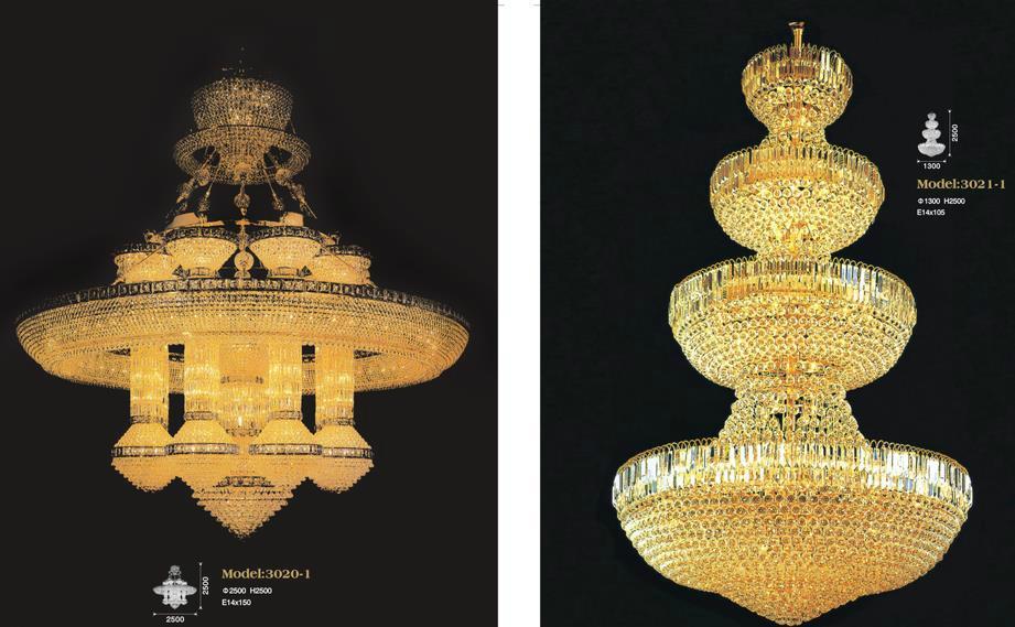 Luxury Hotel Crystal Chandelier Lamp 3
