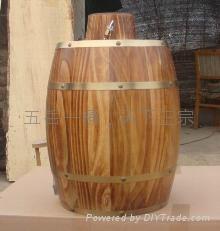 仿古色木酒桶 1