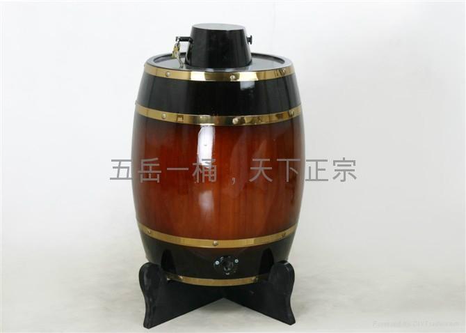 立式木酒桶 1