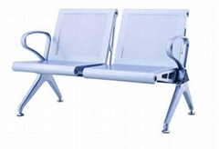2-Seater Steel Powder Painted China Airport Waiting Chair