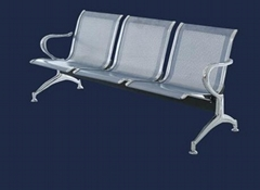 3-Seater China Airport Chair with chrome base