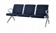 3 Seats Steel Powder Painted China Airport Gang Chair