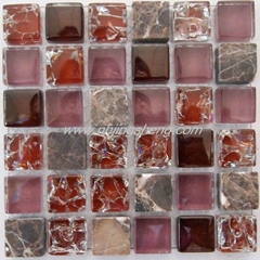 Glass Mosaic of ice to crack
