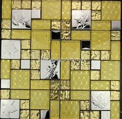 不锈钢金箔玻璃马赛克