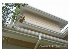 成都天溝PVC檐溝方形雨水管
