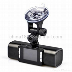 2.0 Inch LCD 1080p 5MP IR Night Vision Car DVR with MP3 player/Flashlight/Digita