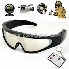 720P HD Spy Sport Glasses Camera - Digital Video Recorder w/ Remote Controller