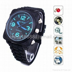 Leather Belt Pinhole Spy Watch Camera DVR with Sound recording, Calendar and MP3