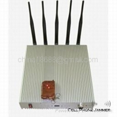 15W High Power 3G Mobile Phone Signal Jammer with Remote Control