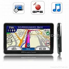 5 Inch Touchscreen Handheld GPS Navigator W/FM Transmitter (4GB) - Slim Design