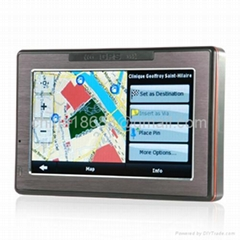 4.3 Inch Portable GPS Navigator with Touchscreen + Media Player & FM Radio