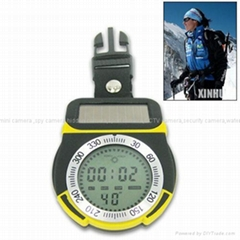 Solar Power Multifunction Digital Altimeter with Compass and 1.2 Inch LCD Screen