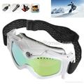 HD 1280x720P DVR White Snow Goggles Ski