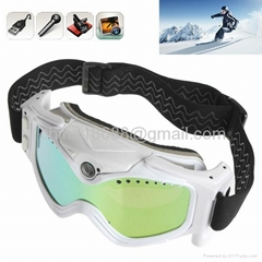 Latest HD 720P Black Snow Goggles with High Definition Invisible Lens Camera
