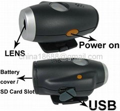 Cmos Sensor Helmet Spy Camera Support SD Card