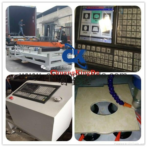 Automatic Stone Marble Granite Ceramic Tile Table Dig Holing Machine 3