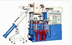 Silicone insulator injection molding machine